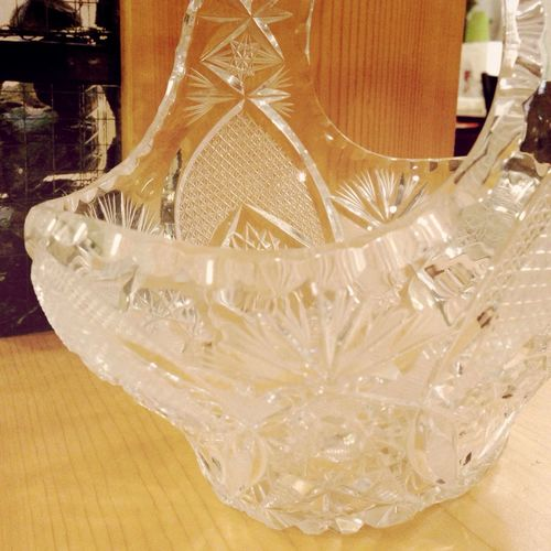 Crystal Etched Glass Vintage Cut Crystal