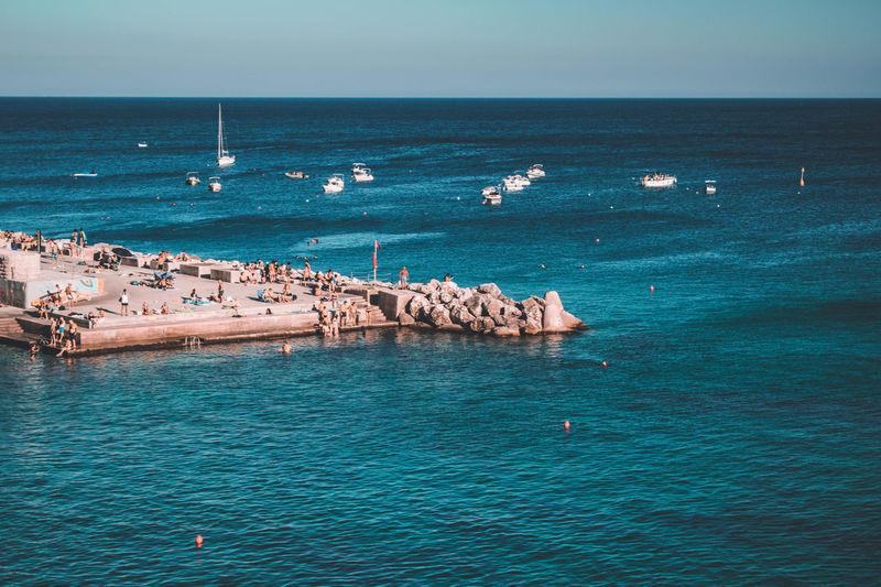 View on piglia sea