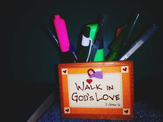 God love's you and me! 😃😊👆😇💞 Scriptures EyeEmNewHere Eyeem Philippines EyeEm Gallery Philippines Close-up Colored Pencil Pencil Written