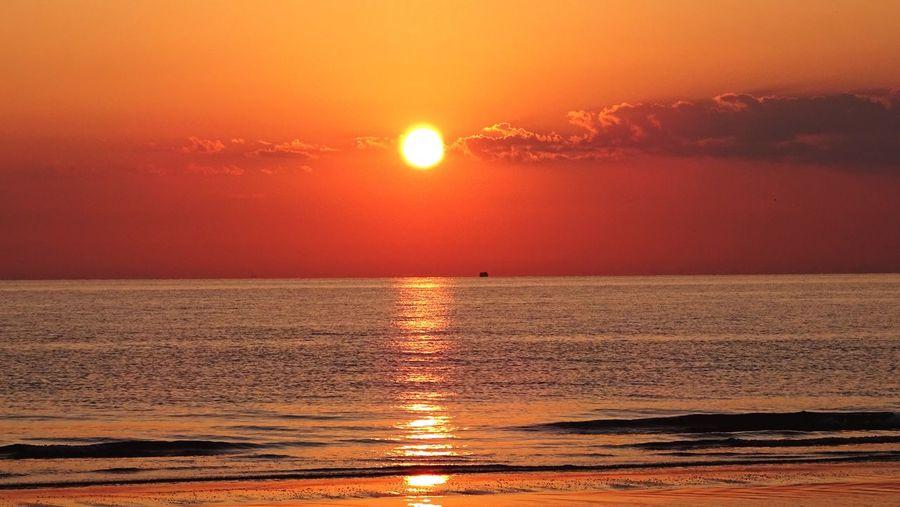 Sunrise Sky And Clouds Beach Photography Seaside Beach Sea Sea And Sky Seascape Beach Riminibeach Rimini Sea Sunset And Clouds  Sea View Emiliaromagna