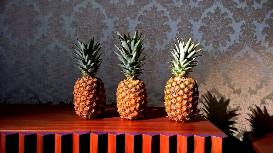 Pineapples On Table In Home