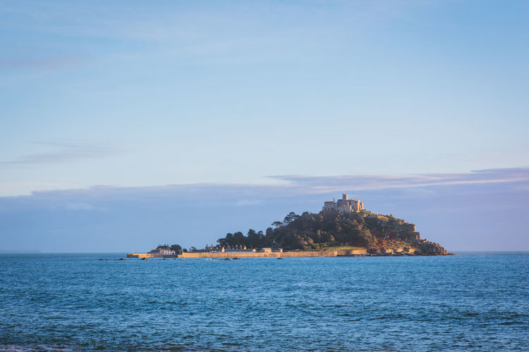 Architecture Beach Beauty In Nature Cornwall Day Horizon Over Water My Year My View Nature No People Outdoors Scenics Sea Sky St Michaels Mount Tranquil Scene Tranquility Travel Destinations Tree Water