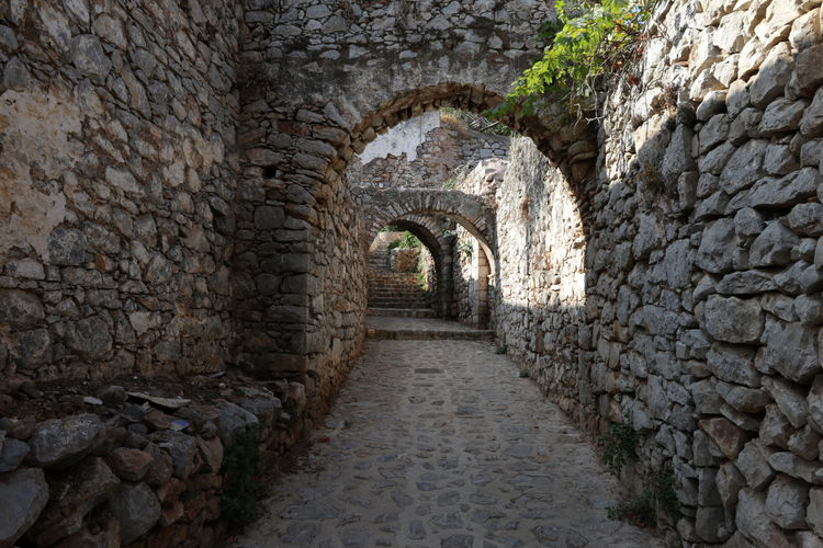 Stone wall of old building