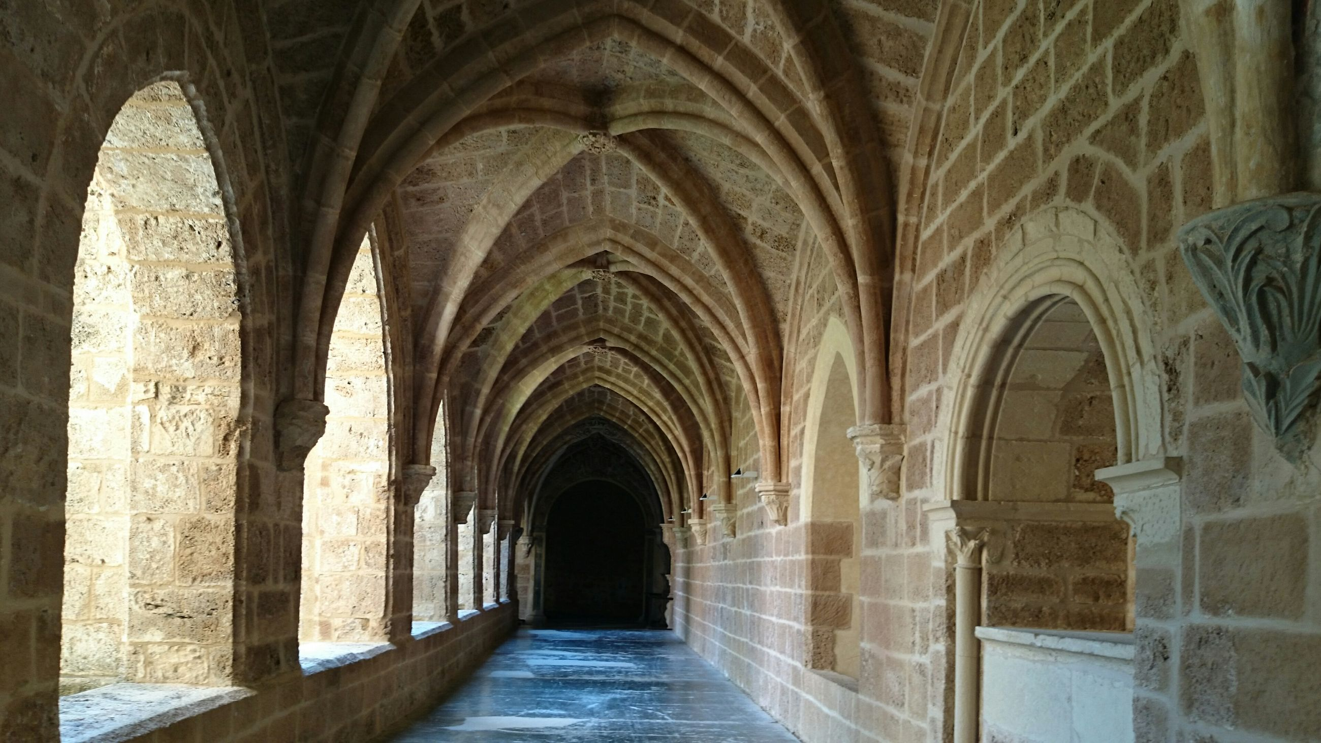 arch, indoors, architecture, built structure, the way forward, corridor, religion, history, place of worship, archway, diminishing perspective, church, interior, spirituality, architectural column, colonnade, ceiling, arched, old