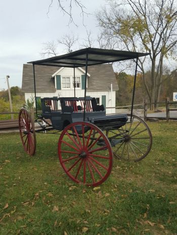 Vintage horse driven buggy in front od farmhands bunk house. Abandoned Building Exterior Built Structure Bygone Times Day Farmhouse House Land Vehicle Old Outdoors Tranquil Scene Transportation Vintage Wheel Seeing The Sights