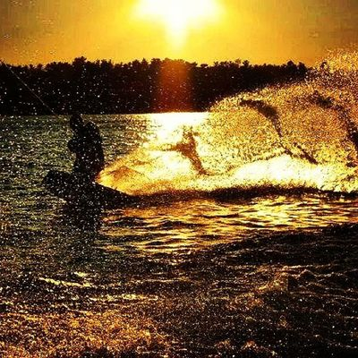 TBT  and hopefully what will be happening this weekend. @scottcrowder Wakeboarding on Lakewinni a few years back. Silhouette sunset sunsets bearisland rei1440project summer nhlife lakelife