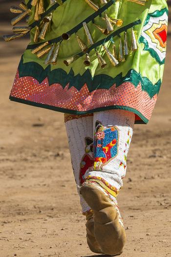 Dancing Feet Traditional Culture Traditional Clothing Beaded Embroidery Close-up Dancing Girl Day Feet On The Ground Focus On Foreground Low Section Mocassins Multi Colored One Person Outdoors People Powwow Real People Standing Traditional Costume Traditional Festival