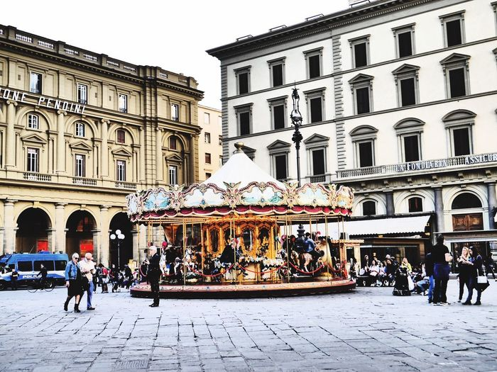 Carousel, Florence Town Square Tourism Architecture Travel Destinations Travel Carousel Carousel Horses City Day Florence Italy Places You Must To See The Architect - 2017 EyeEm Awards