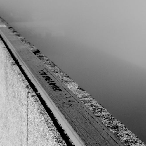 You Are Loved No People Day High Angle View Outdoors Metal Itchen Bridge You Are Loved Blackandwhite Black And White Fog Foggy Bridge - Man Made Structure