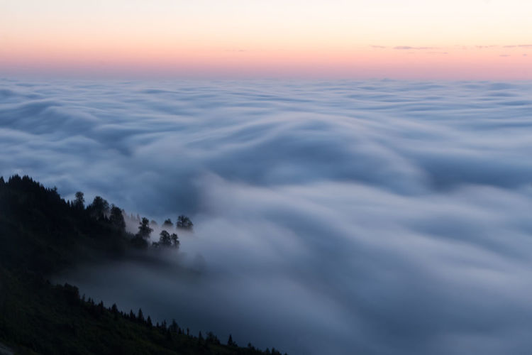 Above the clouds (Gomi Georgia) instagram.com/ebanoidze.photography Cloud Above The City Beauty In Nature Cloud - Sky Day Forest Idyllic Landscape Nature No People Outdoors Scenics Sky Sunset Tranquil Scene Tranquility Water Paint The Town Yellow The Great Outdoors - 2018 EyeEm Awards