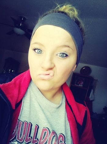 Ugly face, but pretty eyes today! (: