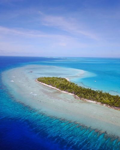 Abaiang Coralreef Sea Water Sky Land Beach Scenics - Nature Beauty In Nature Blue Turquoise Colored