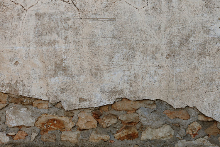 Wall Wall - Building Feature Walls Old Pattern Pattern, Texture, Shape And Form Patterns Textured  Textures and Surfaces Texture Surface Backgrounds Background Wallpaper Full Frame Still Life Construction Construction Site Stone Cement Textured Effect Copy Space Concrete Stone - Object Run-down Rough Stone Wall Damaged Stone Material Weathered Architecture Built Structure Solid No People Textured  Marble Dirty Blank