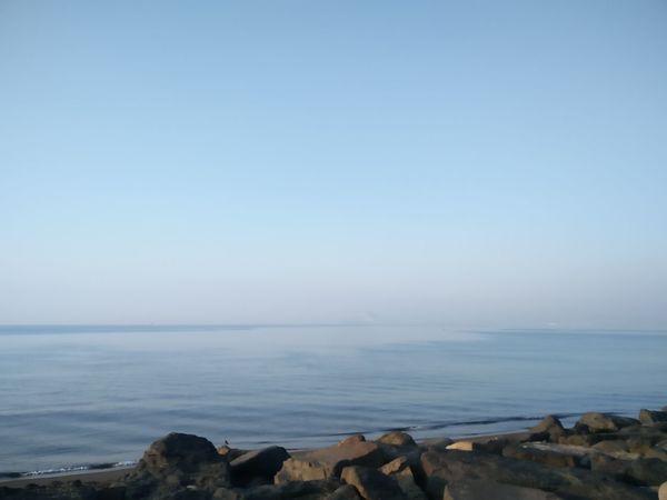 Foggy day by the sea Buongiorno Foggy Pozzuoli Sea Beach Water Nature Horizon Over Water Scenics Tranquility Outdoors Tranquil Scene No People Blue Landscape