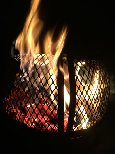 Fire Warmth Hot Fire 😚 Burning Flame Heat - Temperature Night