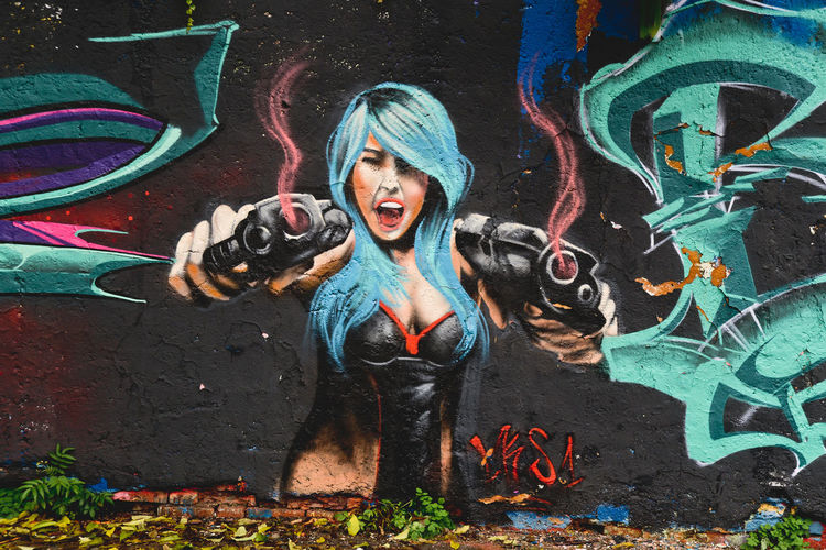 Casual Clothing Cyber Girl Day Drawn Future Girl Girl With Gun Graff Graffiti Graffiti Art Graffiti Wall Gun Guns Leisure Activity Lifestyles Metelkova Nature Outdoors Pink Plant Portrait Science Science Fiction Battle Of The Cities People And Places