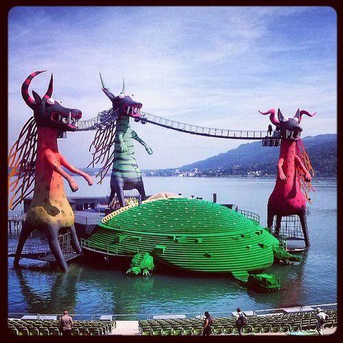 Bregenz Festspiele B ühne Drachen