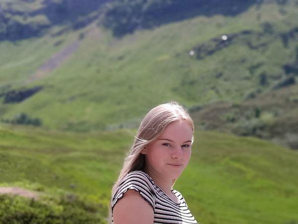 Blond Hair Portrait Headshot Beauty Looking At Camera Long Hair Summer Close-up Grass