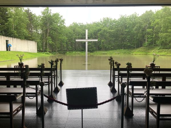 Architecture TADAOANDO Tadao Ando Church Tree Plant Table Seat Nature No People Water
