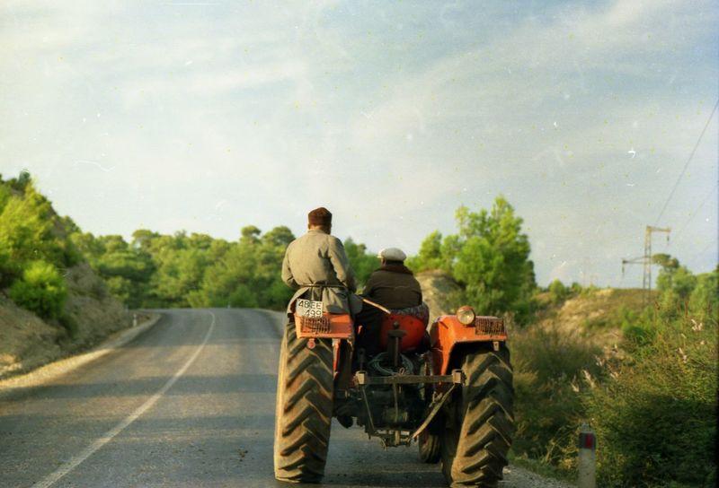 Nepal 1992 Farm Life Journey Men Nepal Road The Way Forward Tractor Vintage