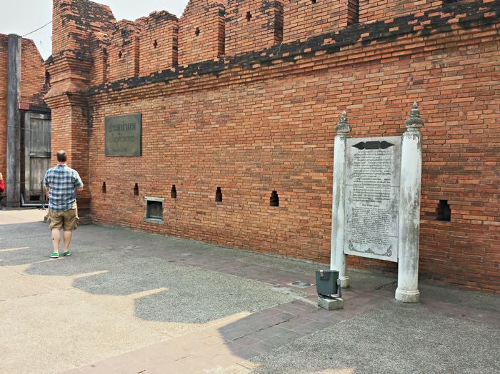 Architecture Brick Wall Building Exterior Built Structure Chiang Mai | Thailand City City Life Day Outdoors Thapae Gate