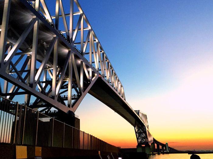 Patern Pieces TokyoGateBridge Bridge Sunset_collection Redandblue Sky_collection EyeEm Nature Lover OceanCity