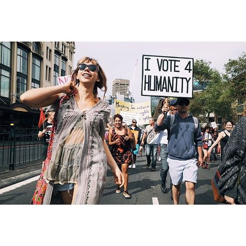 Voting for humanity. MarchinMarch  Sydney Streetphotography Vscocam ricohgr potd