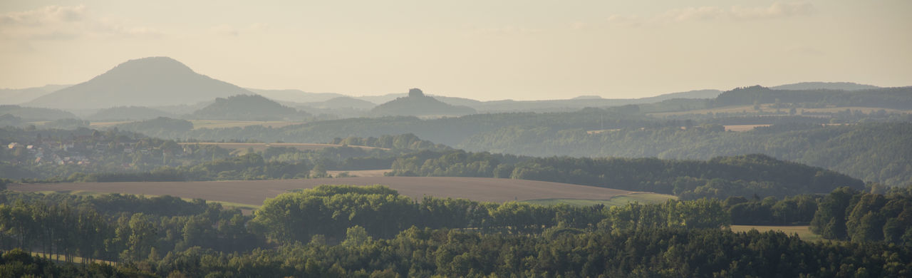 Morning Light National Park View Beauty In Nature Field Foggy Green Color Land Landscape Longlens Mountain Mountain Range Nature No People Non-urban Scene Outdoors Saxon Switzerland Saxony Scenics - Nature Sky Tranquil Scene Tranquility