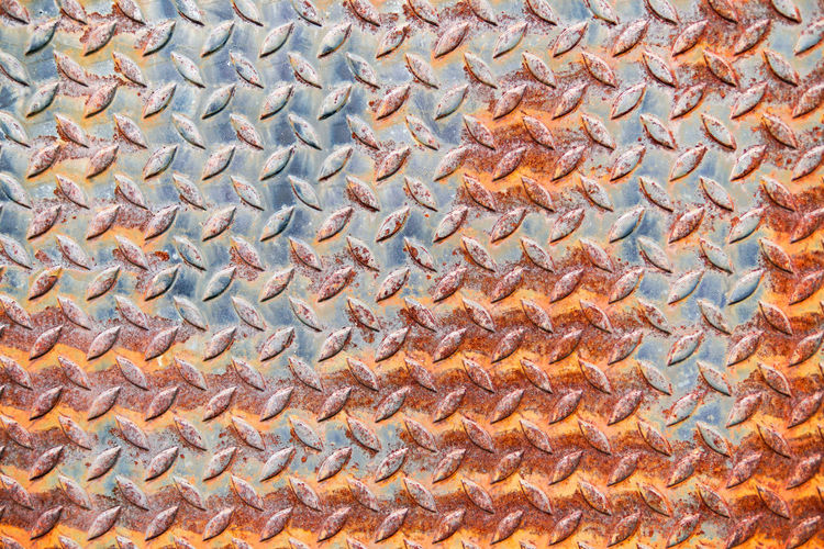 Full frame shot of patterned rusty metal