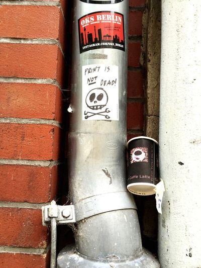Berlin Streetphotography Street Art Print Print Is Not Dead