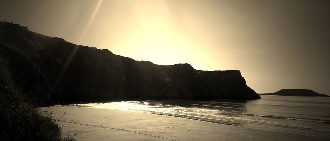 Wales Wales UK Walesonline Sepia Photography Coastline Landscape Rhossili Bay Rhossili Gower Peninsular South Wales Gowerpeninsula Gowercoast Coastal Path Cliffpath Coastal Landscape Sunset Cliff Photography Sepia Beauty In Nature Rock Formation Swansea Travel Destinations Swansea Bay Gower Coastline EyeEm Best Shots - Landscape Sepia_collection