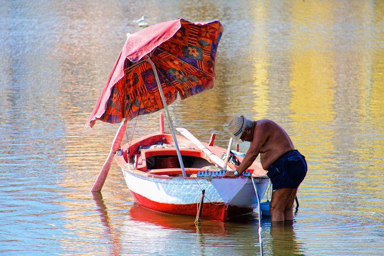 Laghi di Ganzirri Boat Lifestyles Nature Nautical Vessel Outdoors Tranquil Scene Water