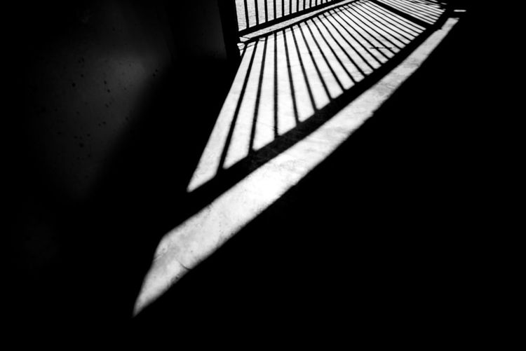 Fence shadow Shadow Dark Indoors  Architecture No People Sunlight Railing Nature Pattern Close-up Day Built Structure Darkroom Body Part Domestic Room Copy Space Wall - Building Feature Focus On Shadow