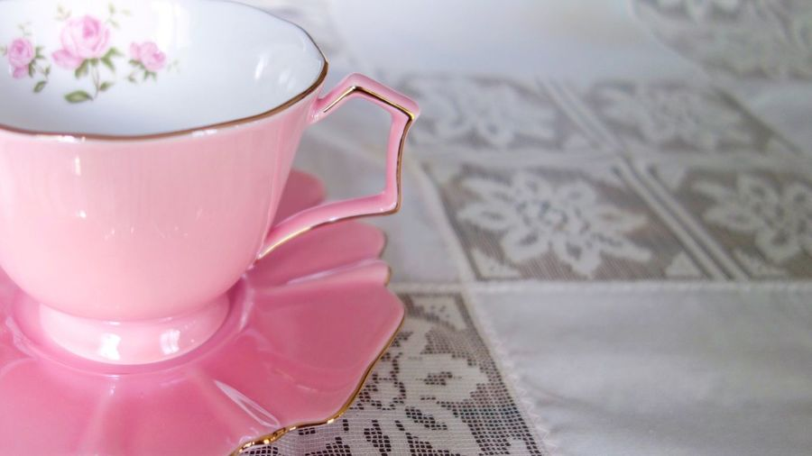 Pink tea cup. Pink Color Tea Cups Cup Of Tea Tea - Hot Drink Vintage China Tea Time Take A Break TeaCup Tea Cup Relax Tea Delicate Feminine  Food And Drink Relaxation Table Drink Refreshment Close-up Marylandisforcrabs🦀 Copy Space Copyspace Breathing Space