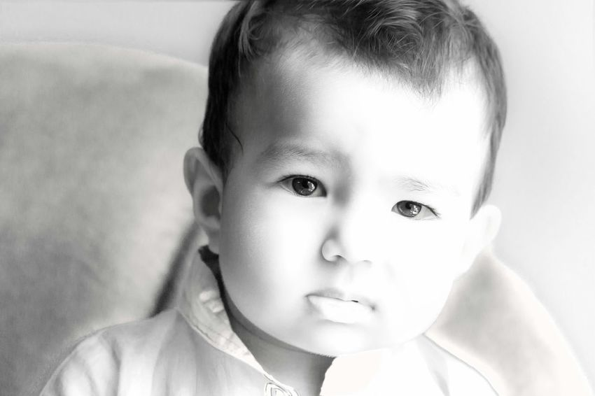 Rayyan B&W Portrait Portrait Cheese! Child Swwetie Smile❤ Photos That Will Restore Your Faith In Humanity Deceptively Simple Baby Divine Love