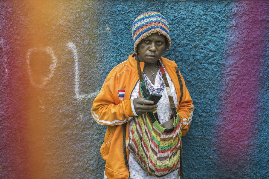 We all like colour, don't we? People And Places Streetphotography Papua People Colour Of Life Colorful Woman Portrait The Portraitist - 2017 EyeEm Awards The Street Photographer - 2017 EyeEm Awards EyeEmNewHere Berlin Love The Portraitist - 2018 EyeEm Awards