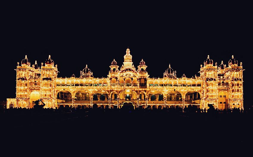 Glowing Mysuru Palace Architecture Night Illuminated Mysuru Palace Built Structure Tourist Attraction  ShotOnIphone Karnatakatourism Iphonephotography Travel Destinations IPhoneography Palace Mysuru Vadiyar Neighborhood Map The Architect - 2017 EyeEm Awards