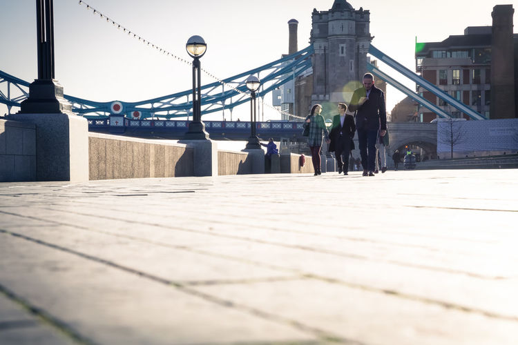 London sidewalk street scene Day Natural Light Worm's Eye View Tiles Streetphotography Sidewalk London Surface Level Footpath Real People Group Of People City Unrecognizable People Walking Urban Skyline City Life Street Outdoors Bridge - Man Made Structure Built Structure