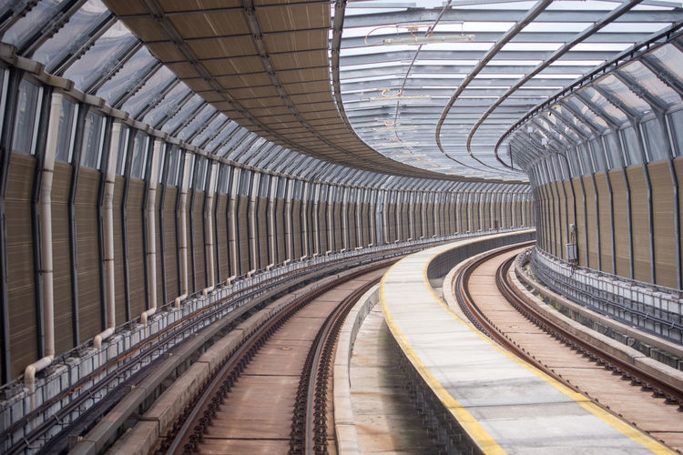 train track Iron Mega Project Mr Transport Architecture Day Empty Future Indoors  Modern No People Rail Transportation Railroad Station Platform Subway Train Technology Track Transportation