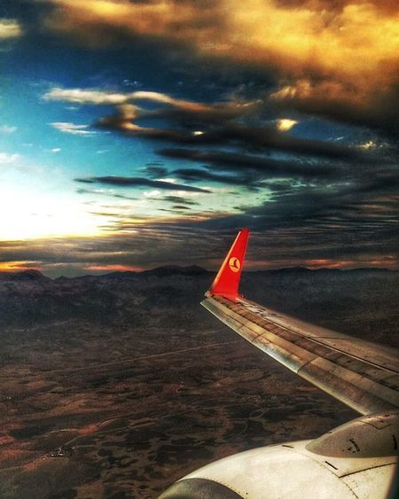 Gokyuzu Turkishairlines Ibrahimatasevn Gunbatimi Sunset