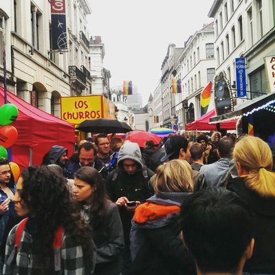 The Pride festival in Brussels. Crowd People Citylife Pride festival