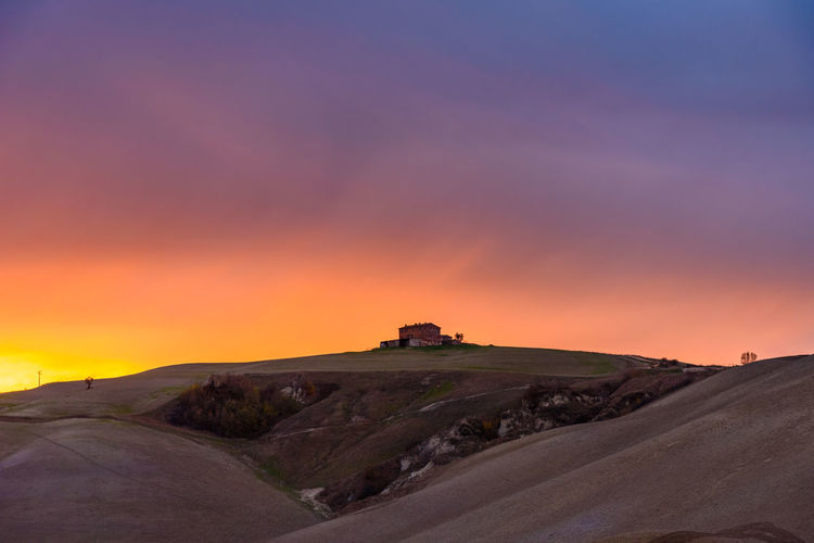 Last days of autumn Crete Senesi Torre A Castello Tuscany Tuscany Countryside Beauty In Nature Day Desert Landscape Nature No People Orange Color Outdoors Road Scenics Siena Sky Sunset Tranquil Scene Tranquility