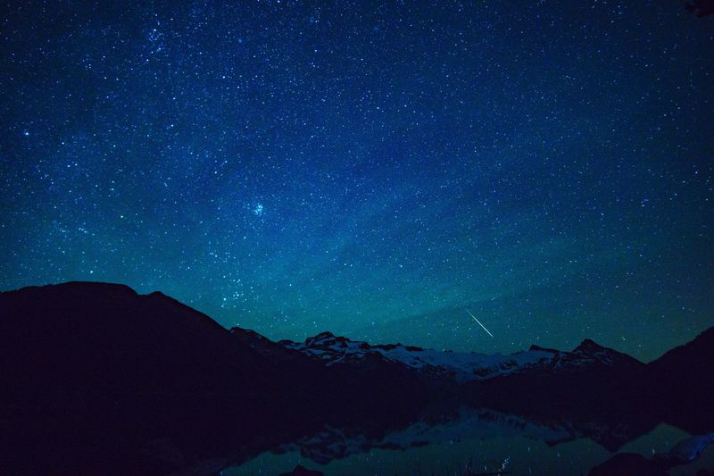 Perseid meteor shower over Gairbaldi Lake, early morning hours of August 12, 2016 Perseid Perseids Perseid Meteor Shower Perseidmeteorshower Perseidsmeteorshower Perseid2016 Meteor Meteor Shower Meteorite Garibaldi Garibaldi Provincial Park