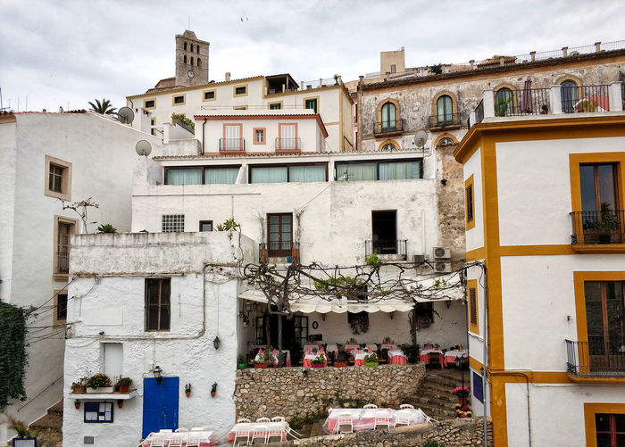 Whitewashed houses in the old town of Ibiza (Eivissa), Balearic Islands. Spain Architecture Eivissa Ibiza Ibiza, Spain SPAIN Ancient Architecture Architecture Balearic Islands Building Building Exterior Built Structure City Cloud - Sky Dalt Vila Day Europe House Ibiza Old Town Ibiza Town Landmark No People Outdoors Residential District Street Whitewashed Houses