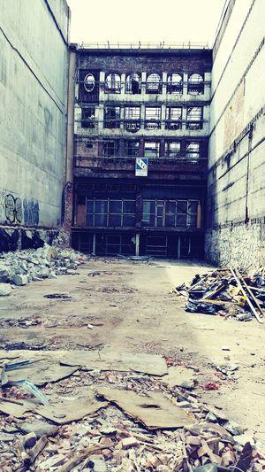 Vacant Lot Facades Demolition Urban Vancouver