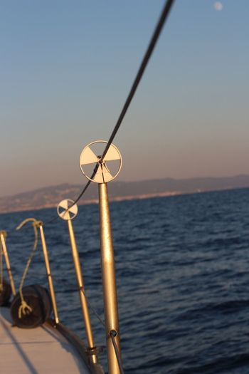 Sea Water Horizon Over Water Nautical Vessel Beauty In Nature Sunset Sailboat Yachting Nature No People Sky Outdoors Boat Deck Barca A Vela Livorno Leghorn Sailing
