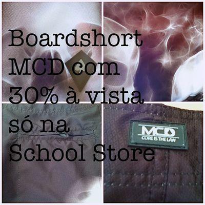 Boardshort MCD com 30% à vista Boardshort Mcd Promoçao Love schoolstore school store skateshop boardshop siga followme follow me