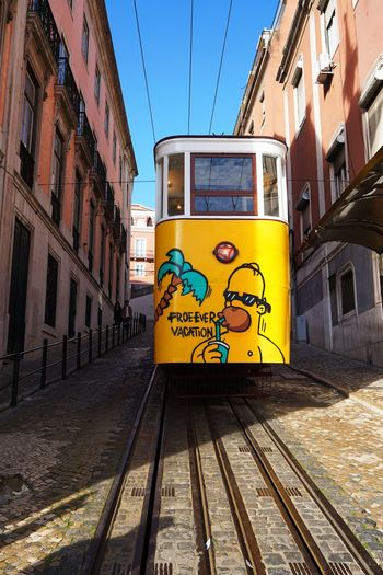 2015  City City Elétricos De Lisboa LINE Lisboa Lisbon Outdoors Portugal Train Tram Yellow ドラム ポルトガル リスボン 線路 路面電車