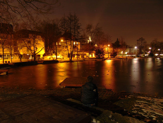 Love it to chill out at Sindelfingen :D Chilling City Lights City OpenEdit Selfie Street Photography Hello World Open Edit Winter Nature