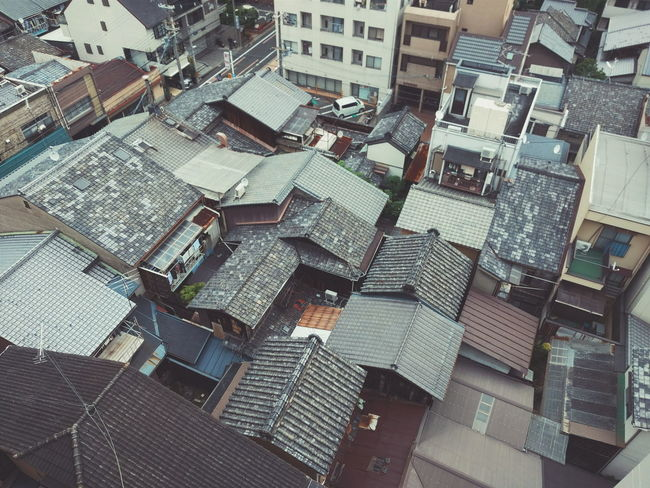 Architecture City Day Outdoors Cityscape No People Japan Kyoto Rooftop House Birdeyeview Birdwatching